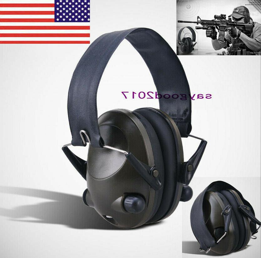 folding electronic ear muffs hearing noise protection