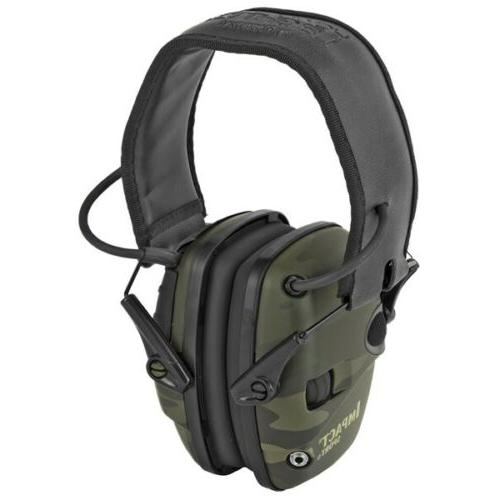 impact sport electronic earmuffs folding multicam black
