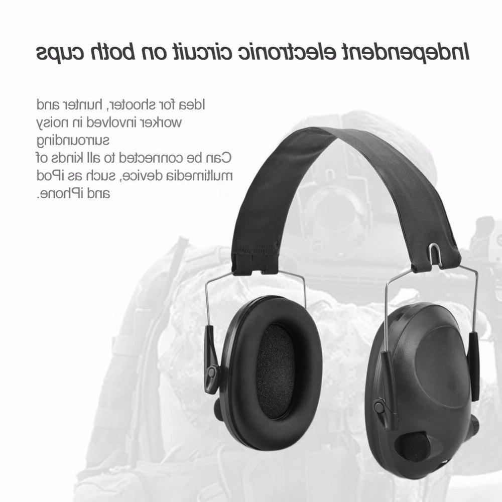 LESHP For Hunting Shooting TAC 6s Electronic <font><b>Earmuffs</b></font> Electric Shock