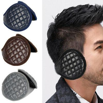 Ear Muffs Accessories Adults Plush Leather Adjustable Protection