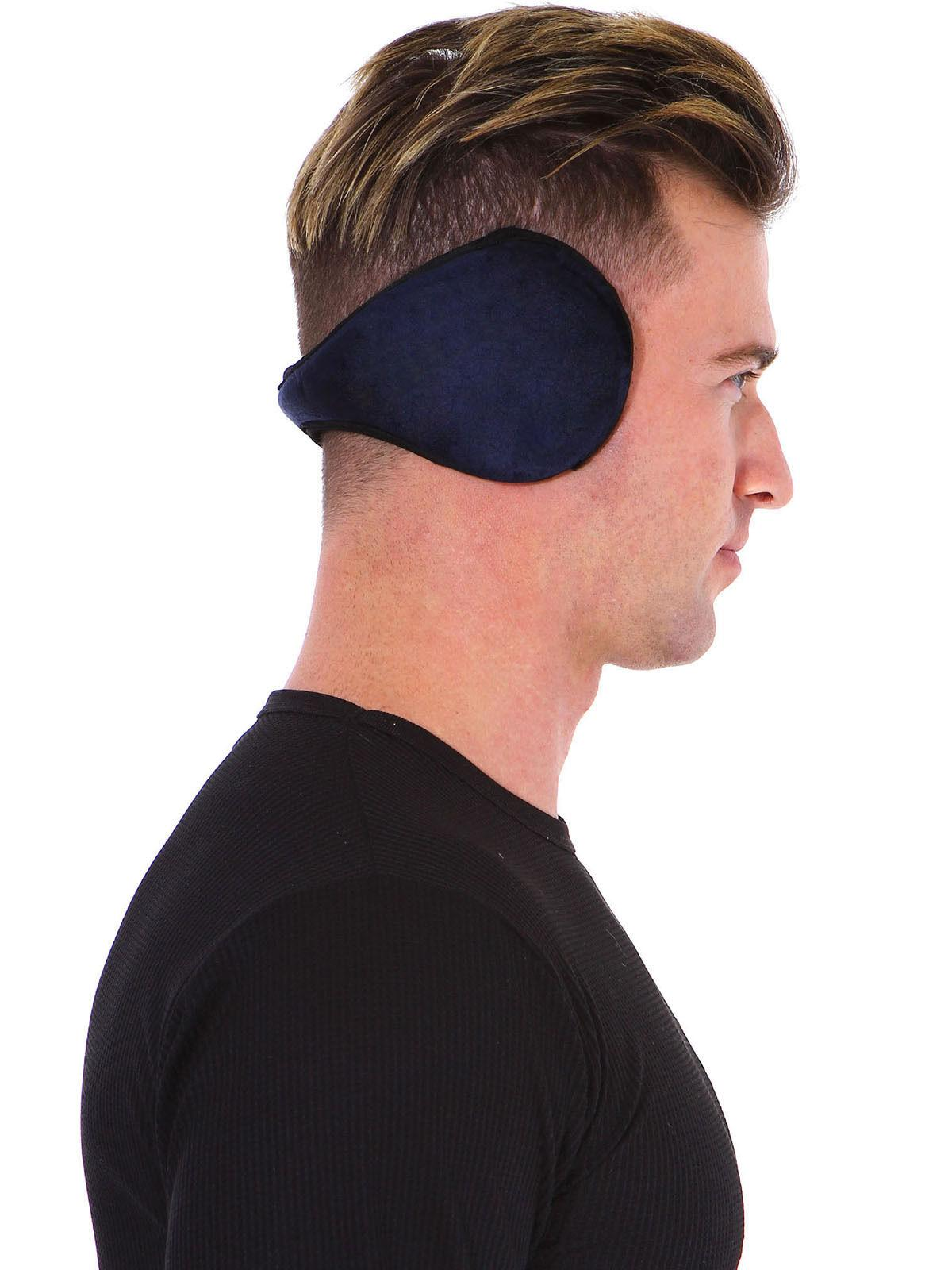 men winter warm ear warmers flexible earmuffs