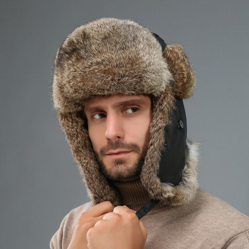 Men's Rabbit Hats Winter Couples Caps
