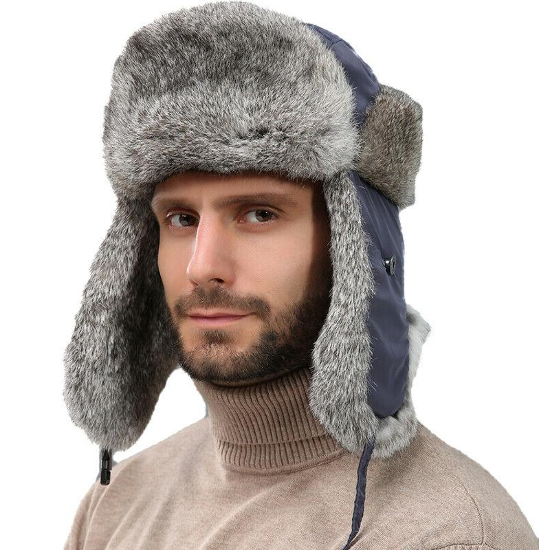 men s real rabbit fur hats women