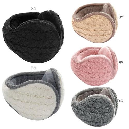 Men Earmuffs Cashmere Ear Knit Fur