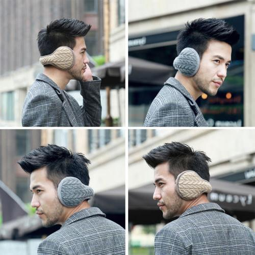 Men Women Earmuffs Thick Cashmere Ear Cover Knit Fur