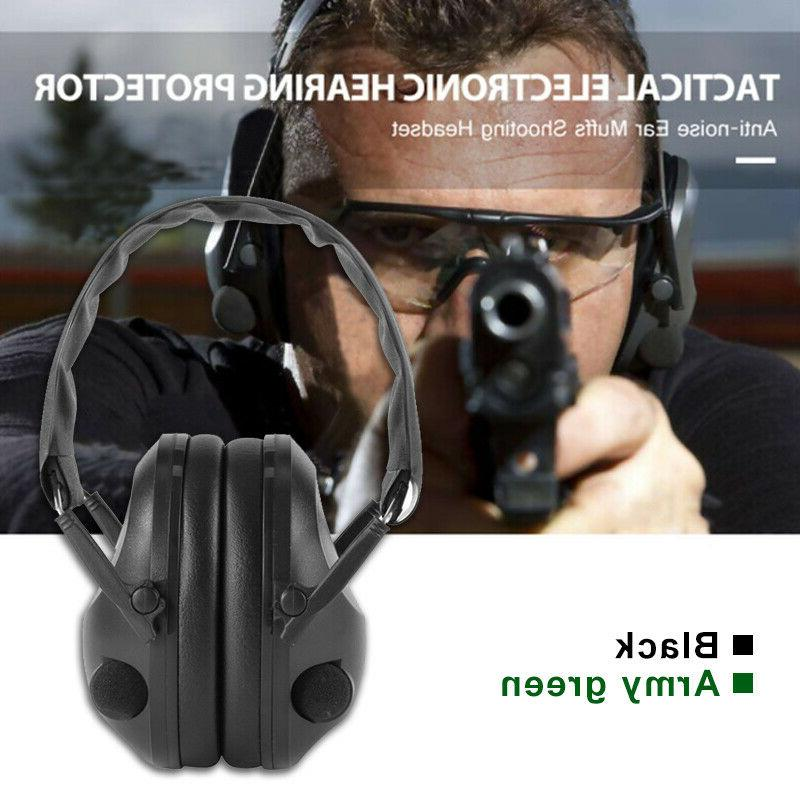Military Noise Canceling Ear Muffs Protector Sports