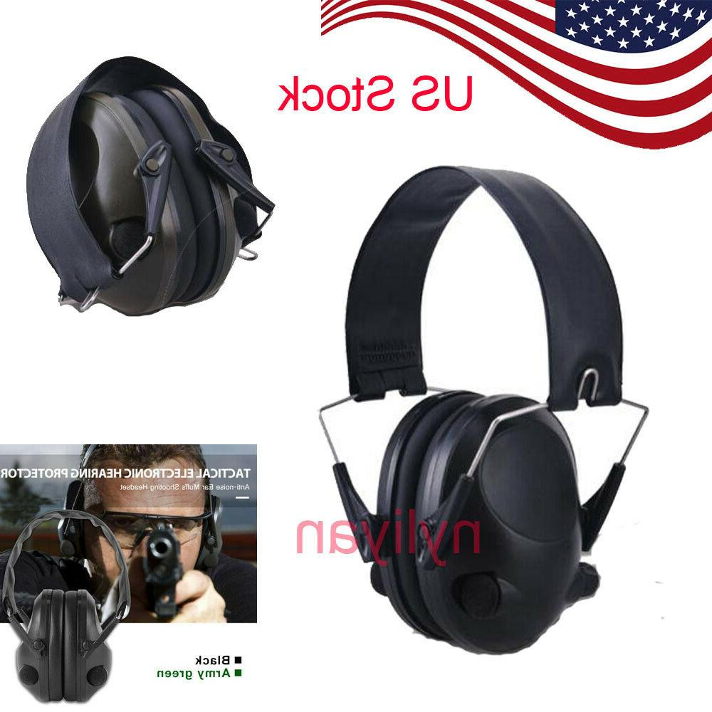 military noise canceling electronic ear muffs protector