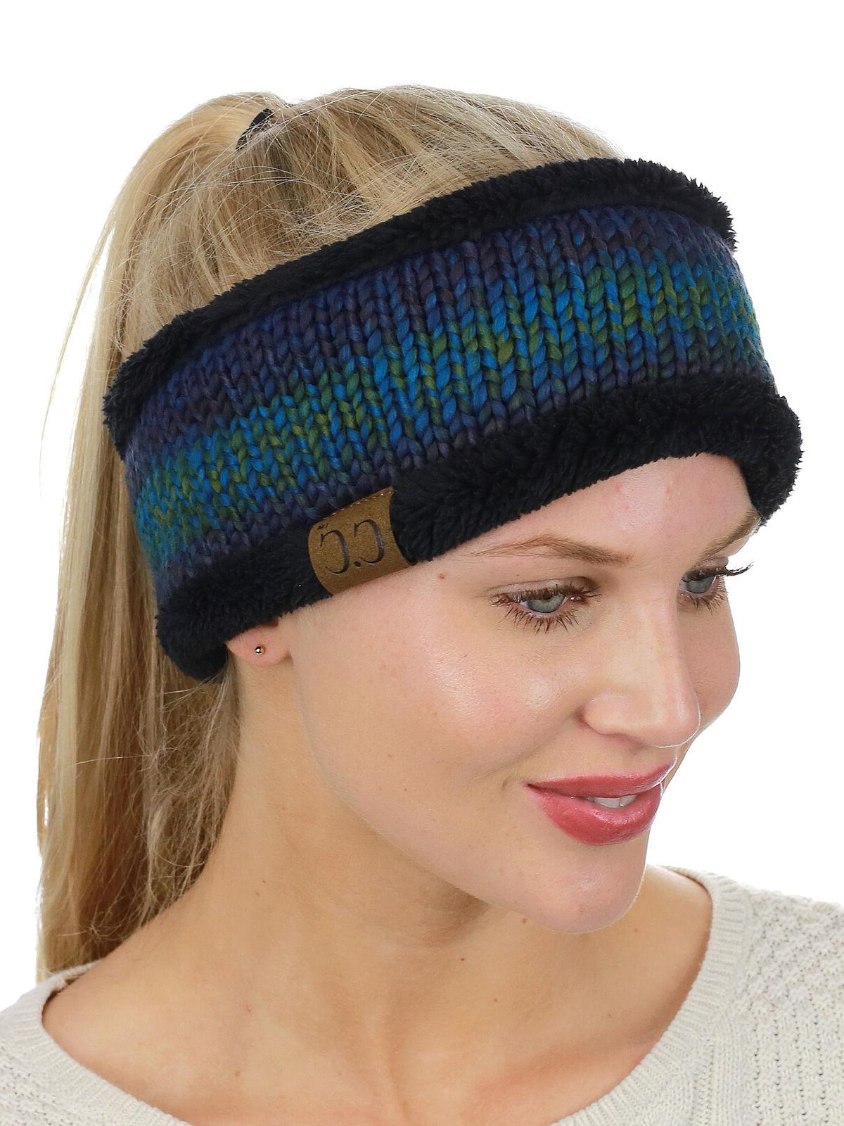NEW! CC Colorful Knit FUZZY LINED Head