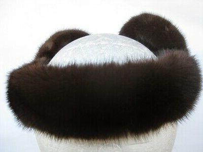 NEW DARK MAHOGANY FUR MINK EARMUFFS prices