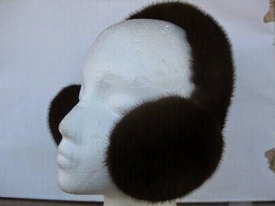 NEW DARK MAHOGANY COLOR FUR EARMUFFS Great prices