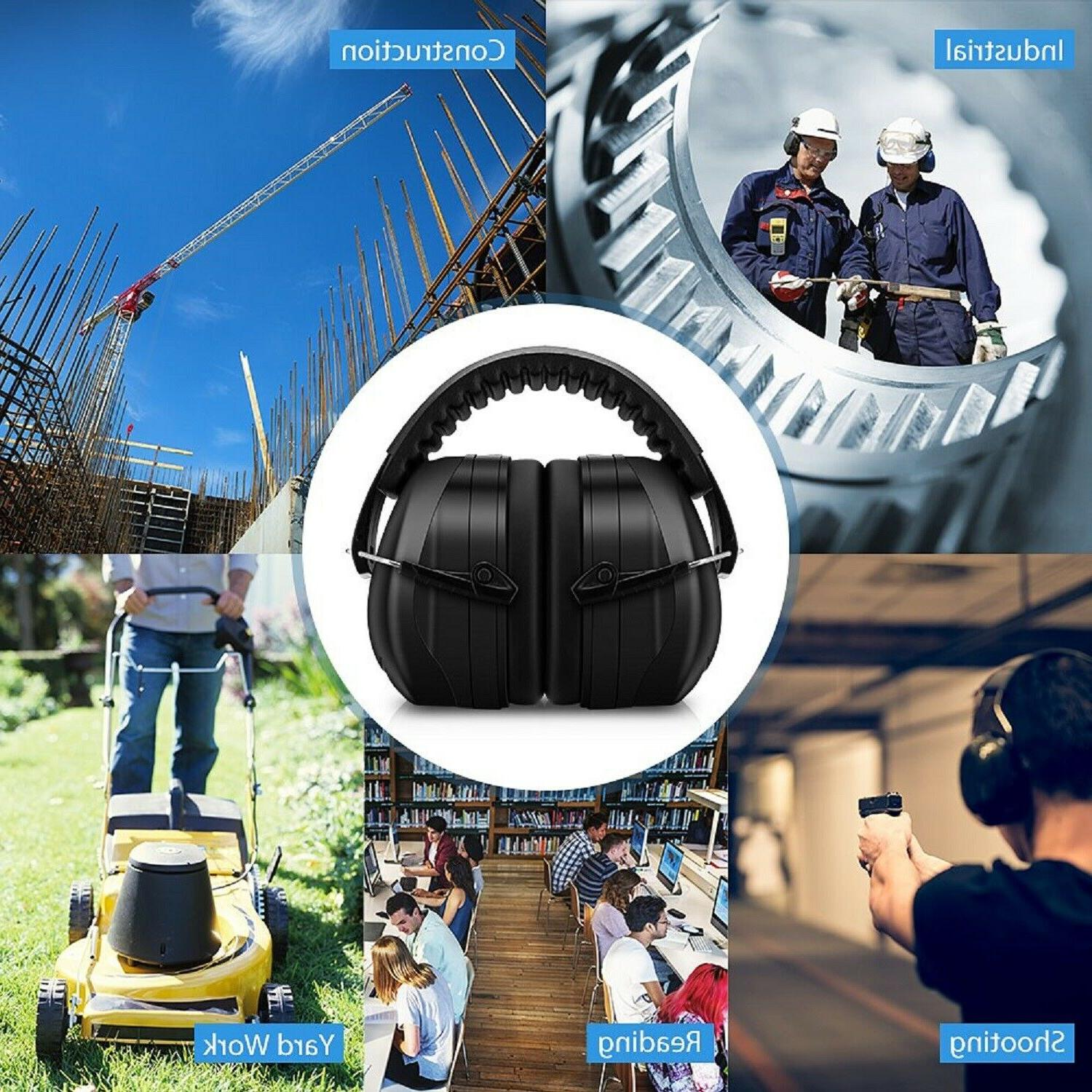 NOISE CANCELLING EAR MUFFS Adult Protection Shooting