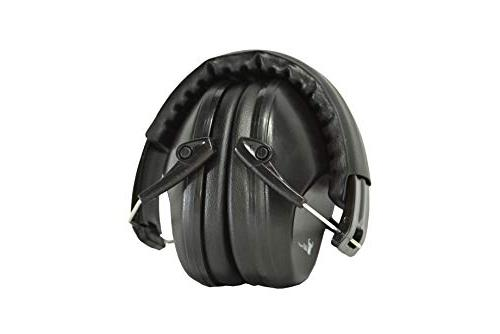 Earmuffs low passive design 26dB and reduces up to 125dB, black