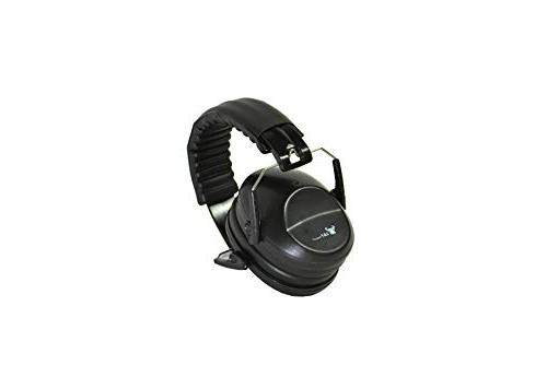 Earmuffs low profile folding design 26dB NRR and reduces up to 125dB, black
