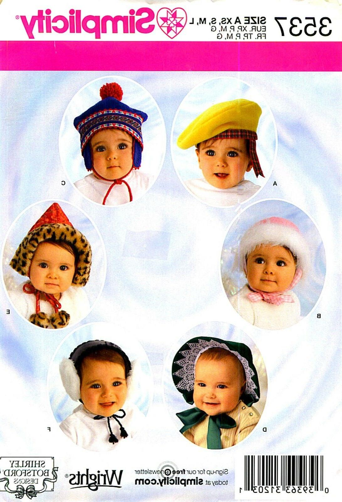 oop infant toddler hats 4 szs ear