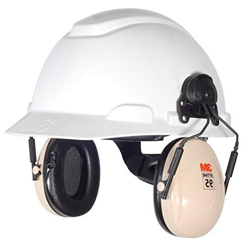 3M Optime 95 Helmet Attachable Earmuff, Hearing Protection, NRR 21dB, Ideal for machine and tools