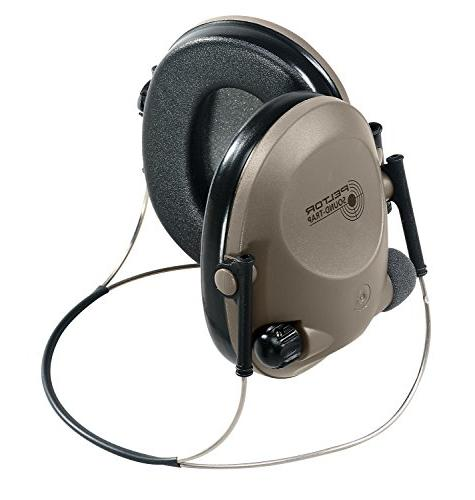 3M Slimline Electronic Headset Neckband Style, Green, Protection, Protection, Great for hunters shooters
