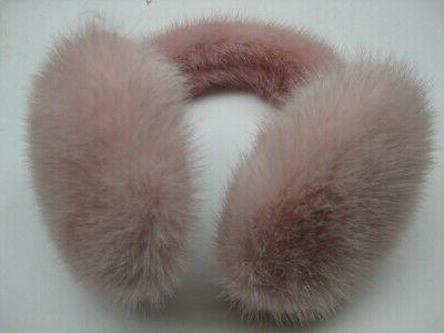 PINK COLOR FUR EARMUFFS