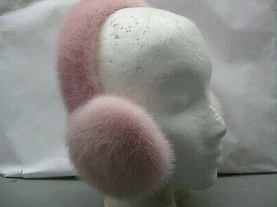 pink color fur mink earmuffs finest skins
