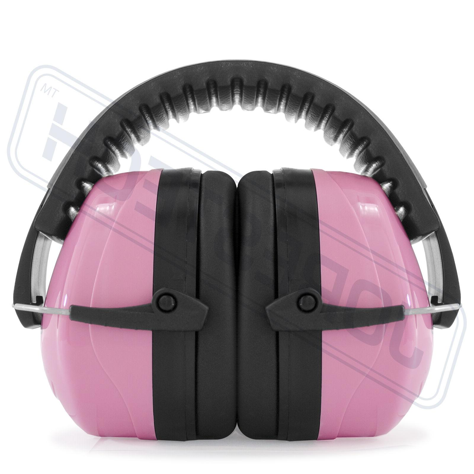 Pink Protection Ear Muffs Construction Shooting Noise Reduct