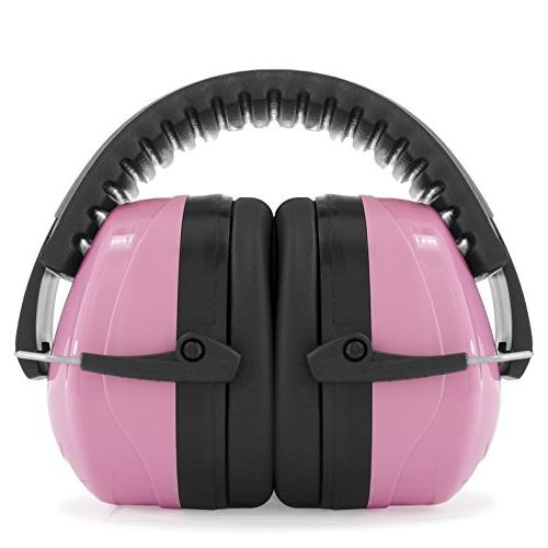 pink ear muffs protection construction