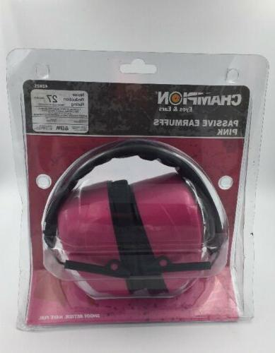 pink electronic ear muffs