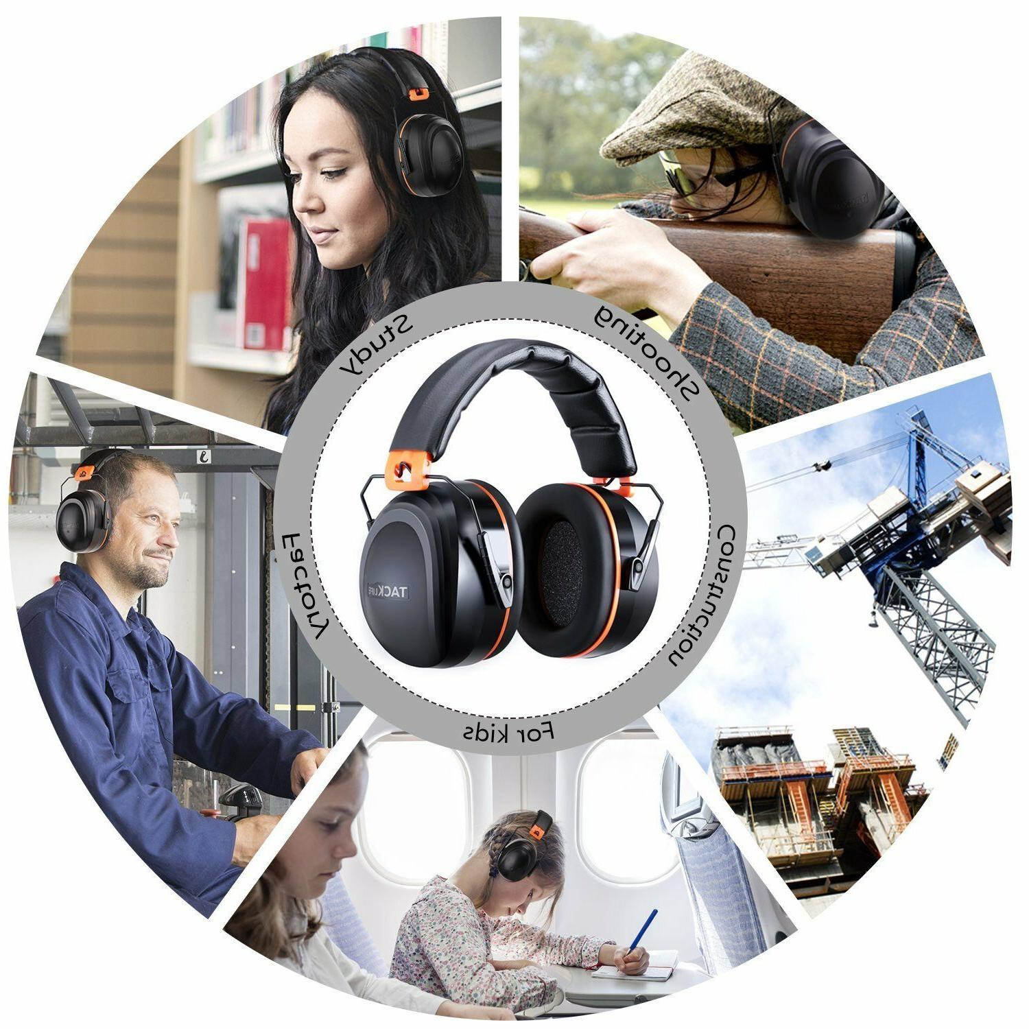 safety hearing ear muffs shooting professional head