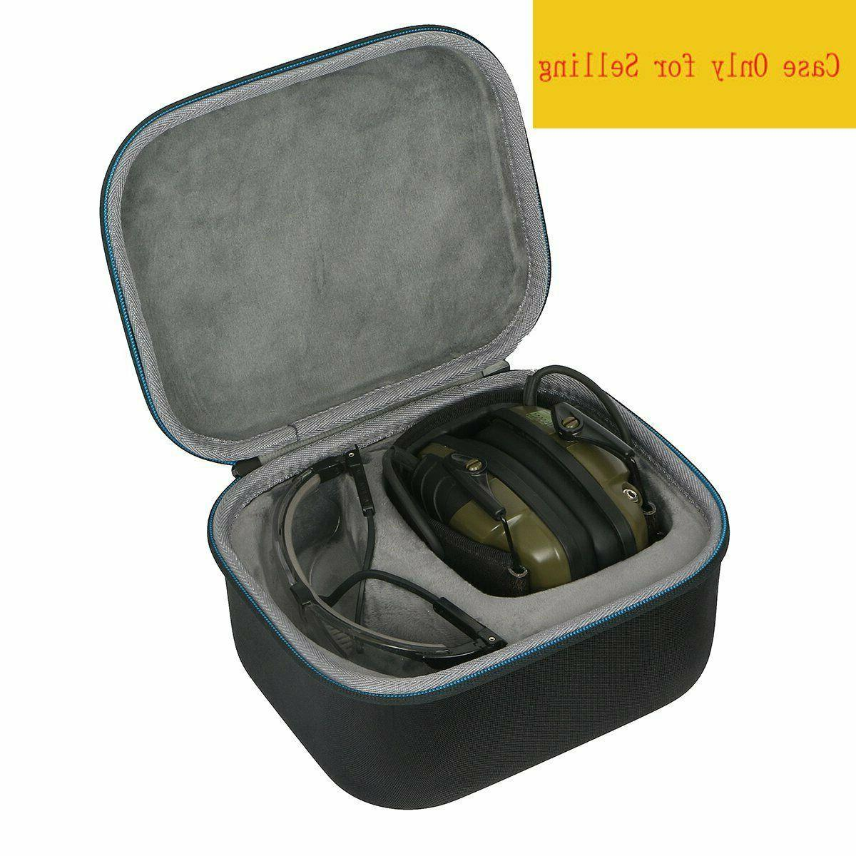 Shooting Ear Muffs Glasses Hard Case Protection Electronic H