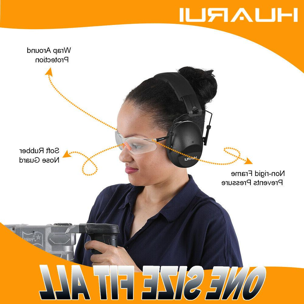 Shooting Earmuffs and Glasses for Protection