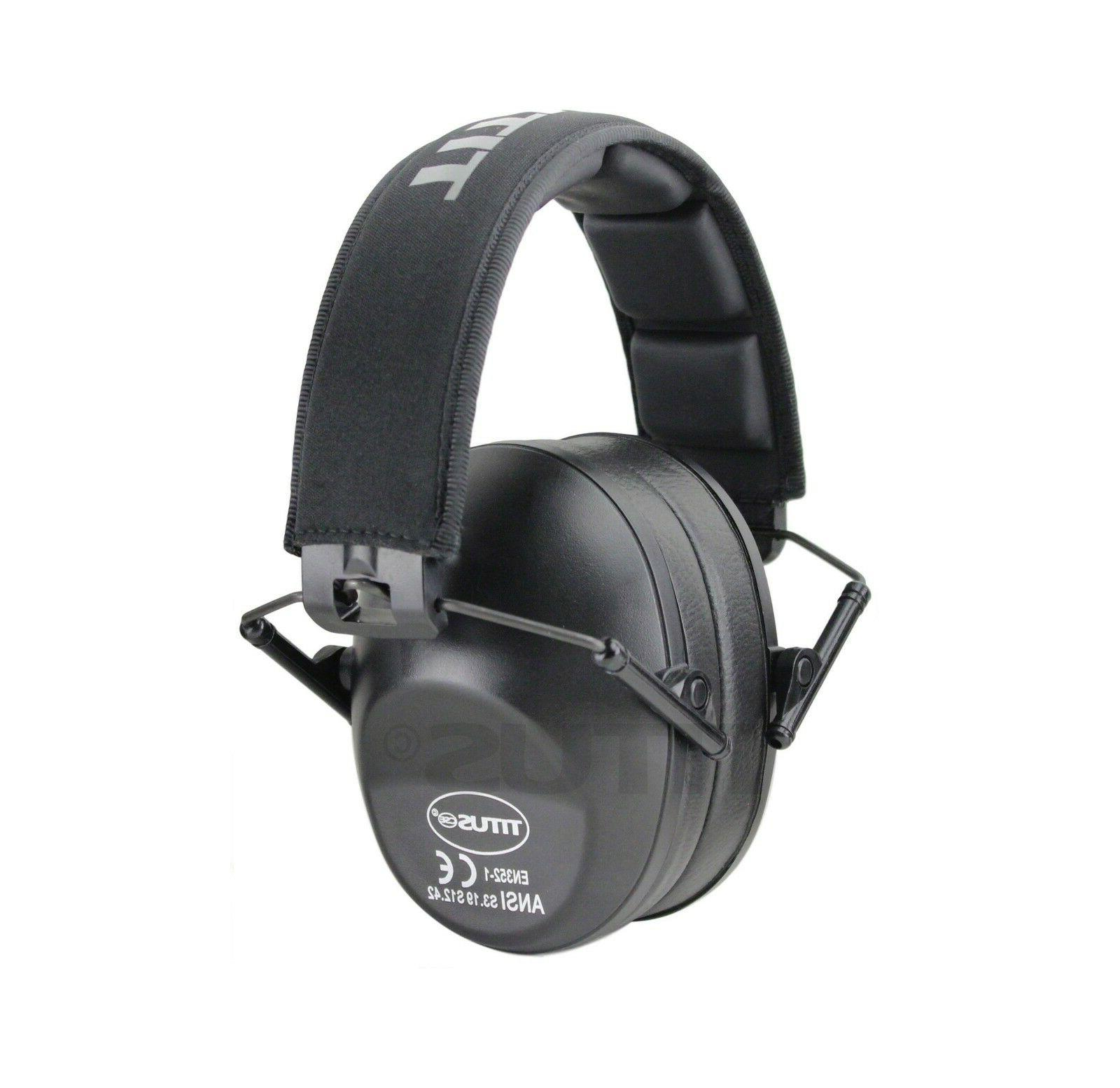 Low Profile Black Ear Muffs Hearing Noise Reduction Protecti