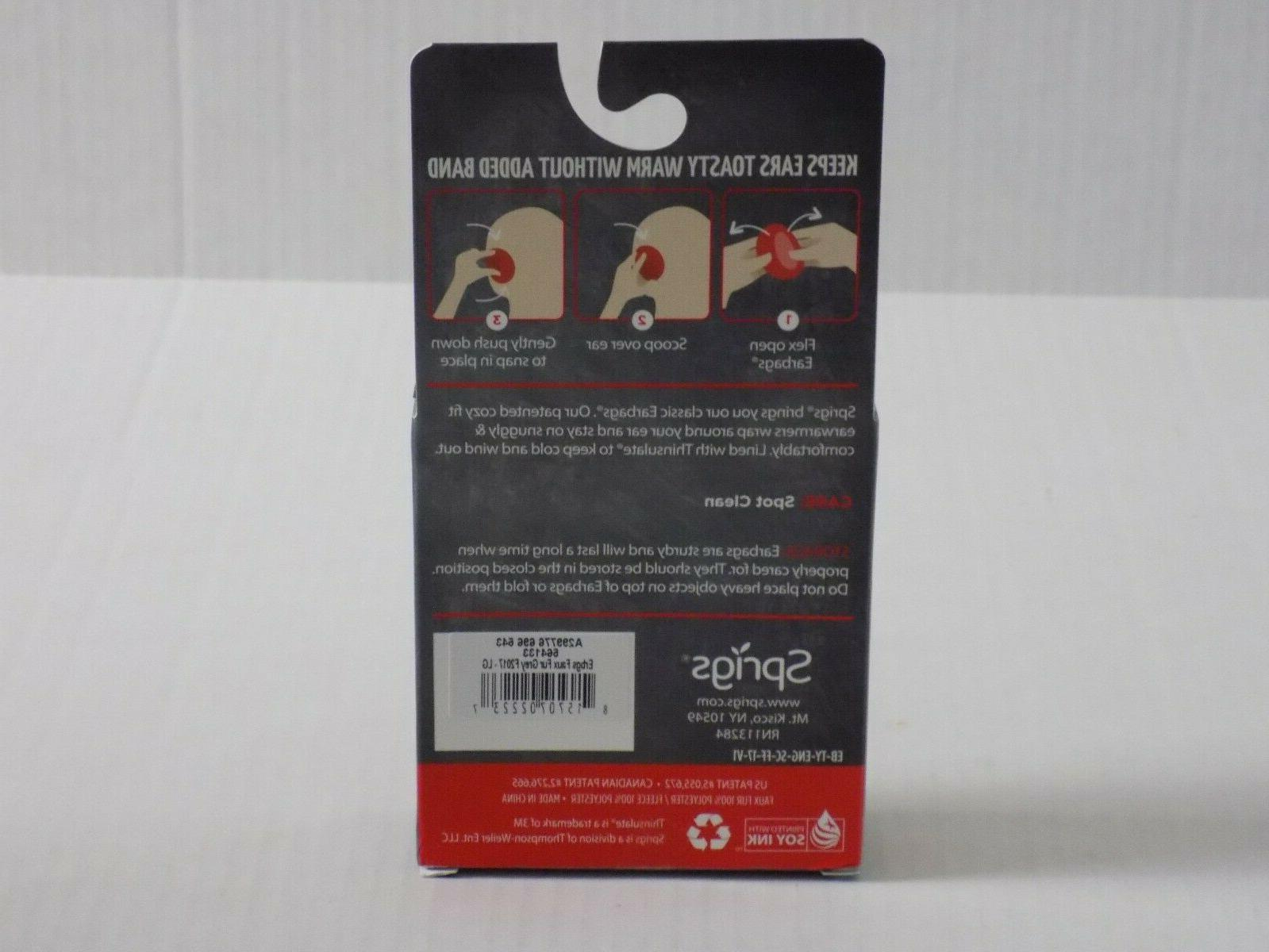 Springs Ear Warmers Lined Thinsulate LARGE New