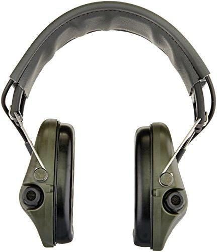 MSA Supreme BASIC with AUX grey Leather-Band Electronic Hearing Protection
