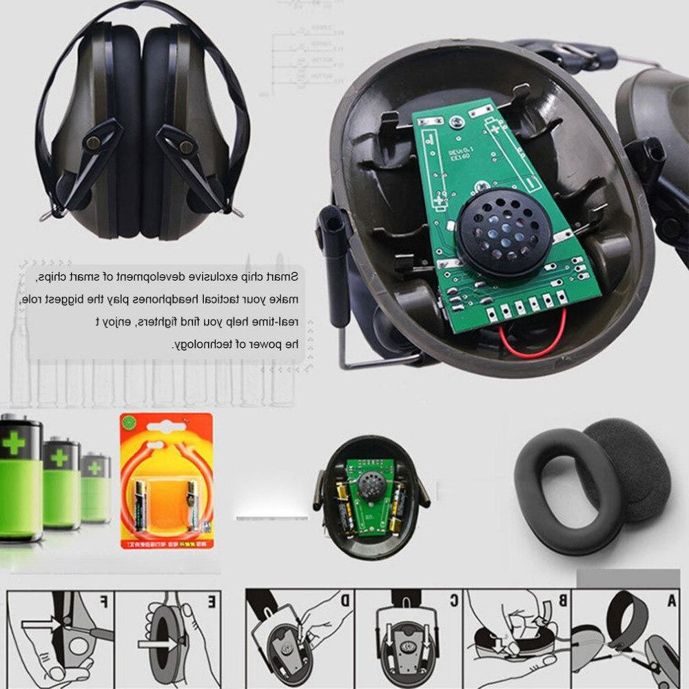 TAC 6S Foldable Design Anti-Noise Canceling Shooting Headset Electronic Hunting