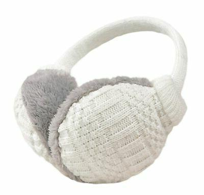unisex knit earmuffs faux furry earwarmer winter