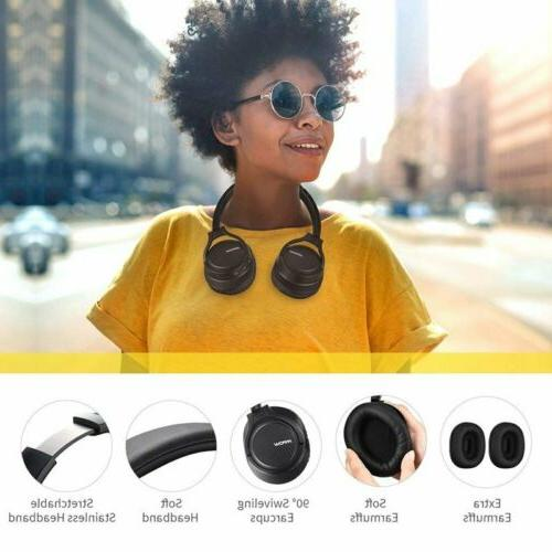 Mpow Wireless Bluetooth Headphones Stereo Over Replaceable Earmuffs