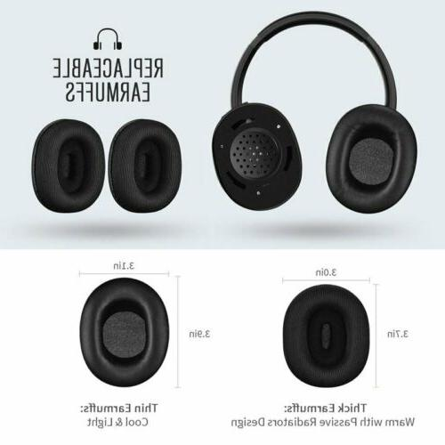 Mpow Wireless Bluetooth Stereo Replaceable Earmuffs