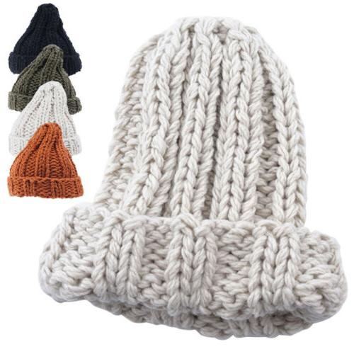 women warm manual wool knitted earmuffs hats