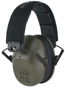 TITUS Low-Profile 34 Decibel NRR Safety Earmuffs , No Drab