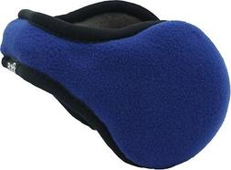 180s Men's Blue Adjustable Fleece Ear Warmers NEW Ear Muffs
