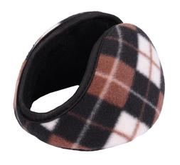 Men's Fleece Earmuffs w/ Frame Faux Fur Pads Ear Warmer