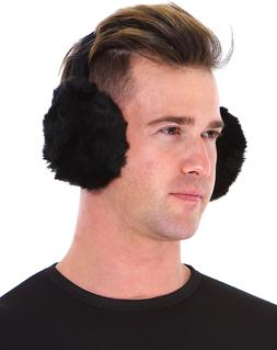 Men Women Winter Plush Ear Pad Back Wear Earmuffs Solid Ear