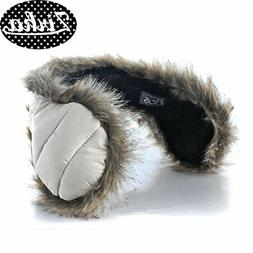 NEW 180s Ear Warmers Down With Fur Women's Behind The Head E