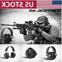Noise Canceling Electronic Ear Muffs Protection Shooting Mil