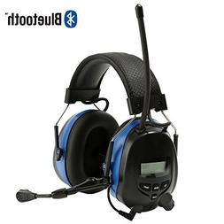 Noise Reduction Wireless Earmuffs with Bluetooth AM FM Digit