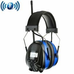 Protear Noise Reduction Wireless Earmuffs With Bluetooth Am