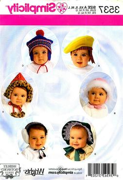 OOP! INFANT TODDLER HATS  EAR MUFFS BONNET SEWING PATTERN Si