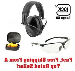 GLOCK RANGE KIT shooting glasses and ear muffs