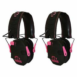 Walker's Razor Series Slim Shooter Folding Earmuffs, Pink
