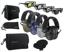 TITUS Side Shield 2-Series 34 NRR Safety Earmuff & Glasses C