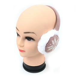 SNOWFLAKE EARMUFFS, GREAT COLORS, PLUSH AND WARM, ADULT,  NE
