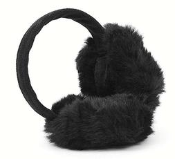 soft and fuzzy black winter ear muffs
